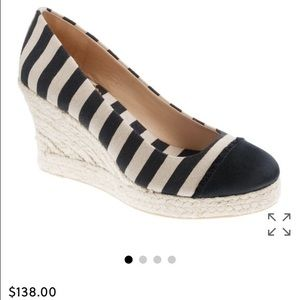J. Crew Striped Wedges